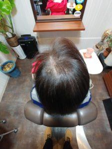 少しずつ増毛で増やしていきます