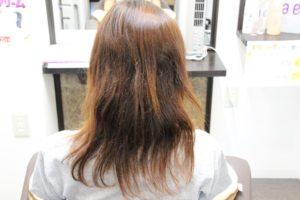 傷んだ髪から復活 縮毛矯正 川西市美容院