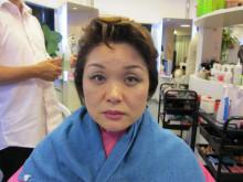 お顔が若返るパーマ・カラー 実験台