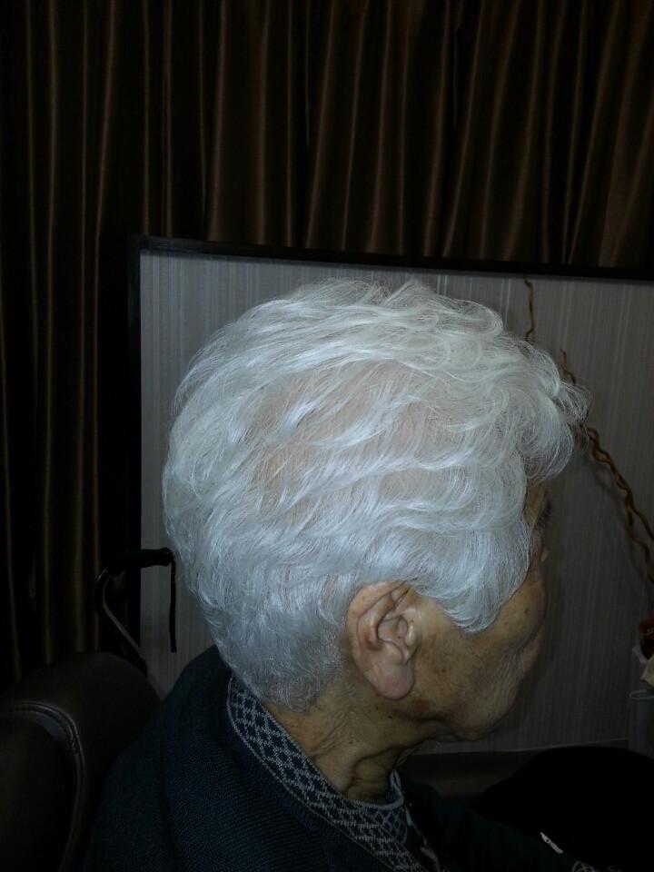 パーマスタイル  白髪